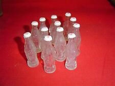 "Vintage MINI Glass Coca Cola BOTTLES Empty Clear 2 1/2""  Lot of 12"