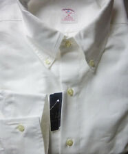 New! Brooks Brothers White Oxford BD Collar Shirt ~ NWT - Slim Fit ~ USA Medium
