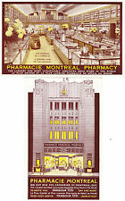 MONTREAL CANADA TWO ADVERTISING CARDS FOR DRUG STORE, RUE ST. CATHERINE