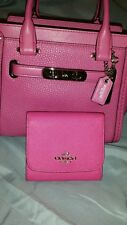 NWT Authentic COACH SV/Dahlia Pink SWAGGER 21 Handbag & Wallet SET=$449 REDUCED