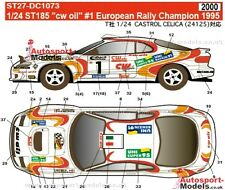 "1/24 1995 Toyota Celica ST185 ""CW Oil"" #1 Euro Champ decal set Studio 27 DC1073"