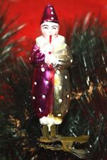 CHRISTMAS TOY USSR CLOWN WITH A PIPE VINTAGE CHRISTMAS-TREE DECORATIONS