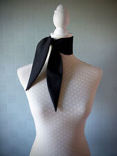 Black cotton rockabilly scarf, retro vintage style, fifties, 50's scarf