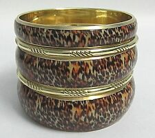 GIFT FASHION WOMEN JEWEL ANIMAL PRINTED BRASS BANGLES WITH EARRINGS!!