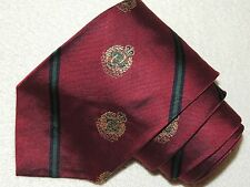 POLO BY RALPH LAUREN NECK TIE STRIPED PATTERN ON MAROON SILK MEN'S TIE