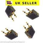 Aeroplane Airline Airplane headphone adapters 4 X Gold Plated 3.5mm jack plug