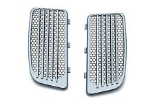 Kuryakyn Chrome Radiator Grills & Screens for Harley FLHT Twin Cooled Models