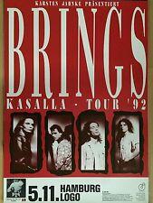 BRINGS 1992 HAMBURG   - orig.Concert Poster  --  Konzert Plakat  A1 NEU
