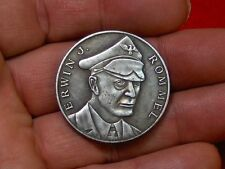 WWII GERMAN NAZI GENERAL ERWIN ROMMEL DESERT FOX AFRICA CORPS  COLLECTABLE COIN
