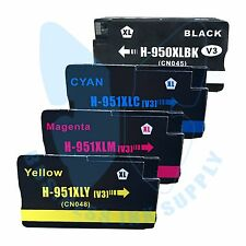 4 PACK New 950XL 950 Ink Cartridges for HP OfficeJet Pro 8615 8620 8610 8625