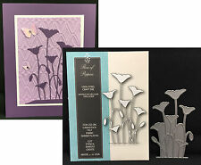 ROW OF POPPIES die Memory Box metal cutting dies 99137 flowers,poppy,leaves