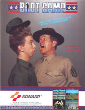 BOOT CAMP By KONAMI 1987 ORIGINAL NOS VIDEO ARCADE GAME MACHINE FLYER BROCHURE