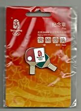 Table Tennis Olympic Pin Badge~2008~Beijing~Games Mark~Equipment Series~NEW~Card