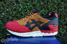 ASICS GEL LYTE V SZ 10 RED BLACK TAN GORETEX PACK HL6E2 2590