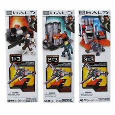 HALO ~ Halo Build & Combine Booster Packs Series 1 ~ 3 Pack Set by MEGA BLOKS
