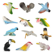 Set of 12pcs Plastic Wild Birds Animal Model for Kids Developmental Toy Gift