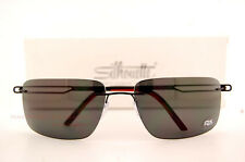 New Silhouette Sunglasses SUN TITAN PROFILE 8672 6200 Black Matt Polarized