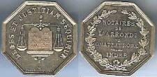 Jeton argent - CHATEAUROUX Indre notaires arrondissement silvert + abeille 11 gr