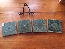 Marble coasters - green, set of four