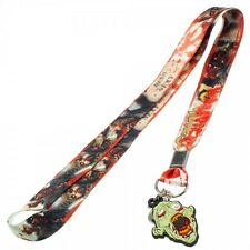 Zombies All Over Print Lanyard Neck Strap Necklace ID Holder Charm Keychain NEW