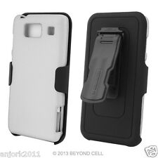 Motorola Droid Razr Maxx HD Hard Case+Holster Combo w/ Swivel Belt Clip White