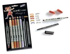 COPIC CIAO MARKER - 6 PEN SET - MANGA 4 SET - TWIN TIPPED