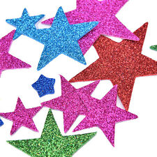 50Pcs 3D Glitter Star Adhesive Foam Stickers Christmas-Cards Making Scrapbooking
