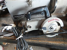 PORTER CABLE 314 WORM DRIVE CIRCULAR SAW W/ STEEL CASE
