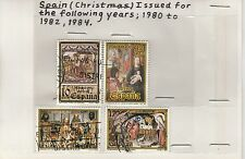 Spain 1980-1984 Christmas Issues Used Stamps