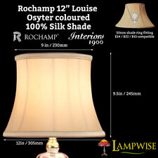 Interiors 1900 Rochamp Louise 12in Bowed Drum Oyster Silk Shade