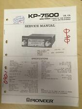 Pioneer Service Manual for the KP-7500 Cassette Car Radio Stereo   mp