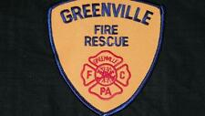 VINTAGE GREENVILLE FIRE RESCUE PATCH HISTORY FELT