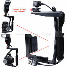 Camera Holder Flash Bracket + E-TTL Cord fr Canon Speedlite 600EX 580EX 430EX II
