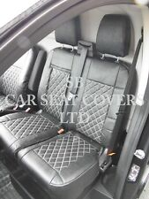 TO FIT A FORD TRANSIT CUSTOM VAN, SEAT COVERS, ROSSINI DIAMOND BLACK LEATHERETTE
