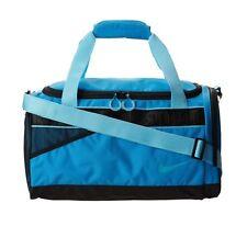 NWT Nike Varsity Medium Tarpaulin Duffel Gym Bag Vivid Blue Black BA4732 404