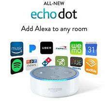Amazon Echo Dot 2nd Generation w/ Alexa Voice Controlled Media Device WHITE, NEW