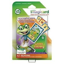 Leap Frog Learning Library ImagiCard Letter Factory Adventure Reading NEW