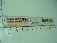 """New listing Vintage Ruler-12"""" Metal Historic Flags Of Our Country nh, inch & cm"""