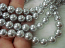 """8mm Silver South Sea Shell Pearl Loose Beads 15"""" AAA /F025"""