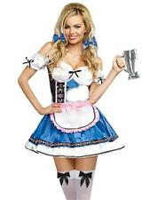 Adult Womens Sexy German Beer Girl Blue Dress Halloween Costume Small/Medium