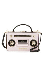 NWT Kate Spade Jazz Things Up Boom Box Bag Clutch Pink Black NEW $398