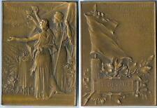 Médaille de table - Banquet aux tuileries L. DEVAUX maire de VAUX Allier d=64x47