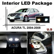 White LED Lights Interior Package Kit for ACURA TSX 2004-2008 ( 10 Pcs )