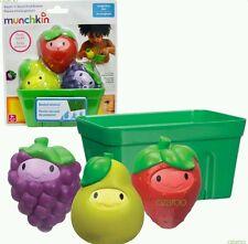 Munchkin Squirt 'N' Strain Fruit Basket Toddler/Child Bathing Fun Toy Game BNIP