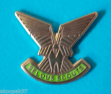 SELOUS SCOUTS LAPEL BADGE ENAMEL & SILVER NICKEL PLATED 25MM HIGH WITH PIN