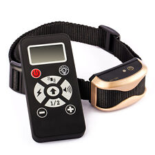 LCD Electric Shock Collar Training Remote for Dog Control Stop Anti Bark Trainer