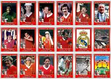 Liverpool European Cup 1981 football trading cards