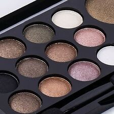 Makeup Smoky Eye Shadow Palette Glitter Shimmer Neutral Nude 14 Colors