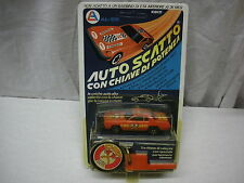 VINTAGE 1980 AUTO SCATTO CON CHIAVE BURNIN' KEY CAR FIRE DEPT. 1.66 KIDCO MIB