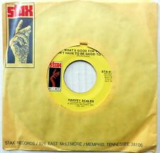 HARVEY SCALES 45 What's Good For You / I Wanna Do It STAX Soul Funk #S65
